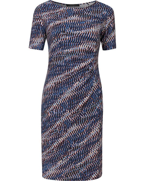 ESPRIT collection Kleid blau-kombi