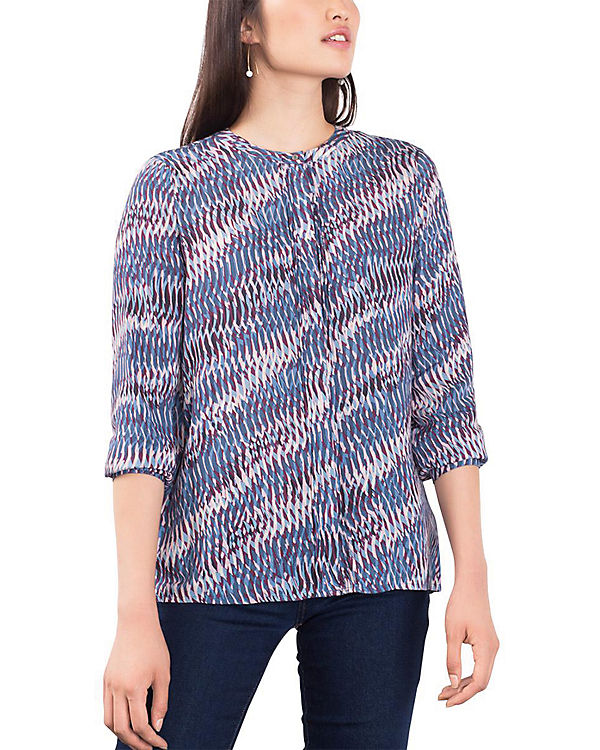 ESPRIT collection Bluse blau-kombi