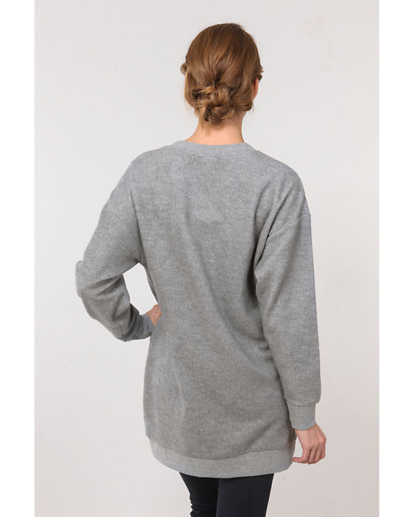 BENCH Sweatshirt hellgrau