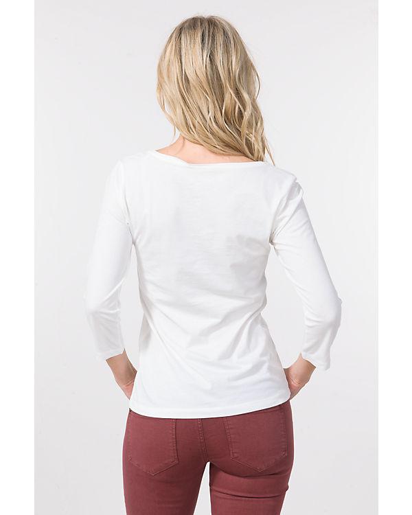 TOM TAILOR 3/4-Arm-Shirt offwhite