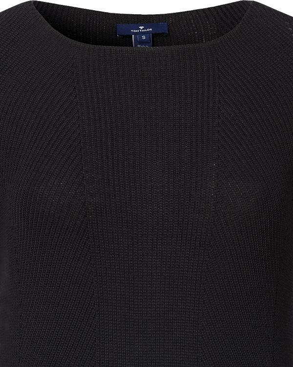 TOM TAILOR Pullover schwarz