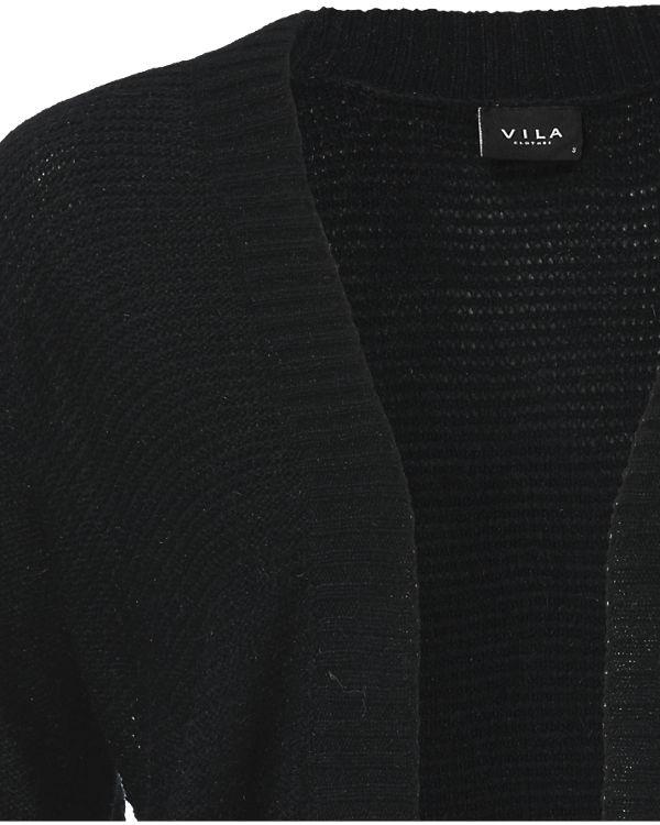 VILA Strickjacke schwarz