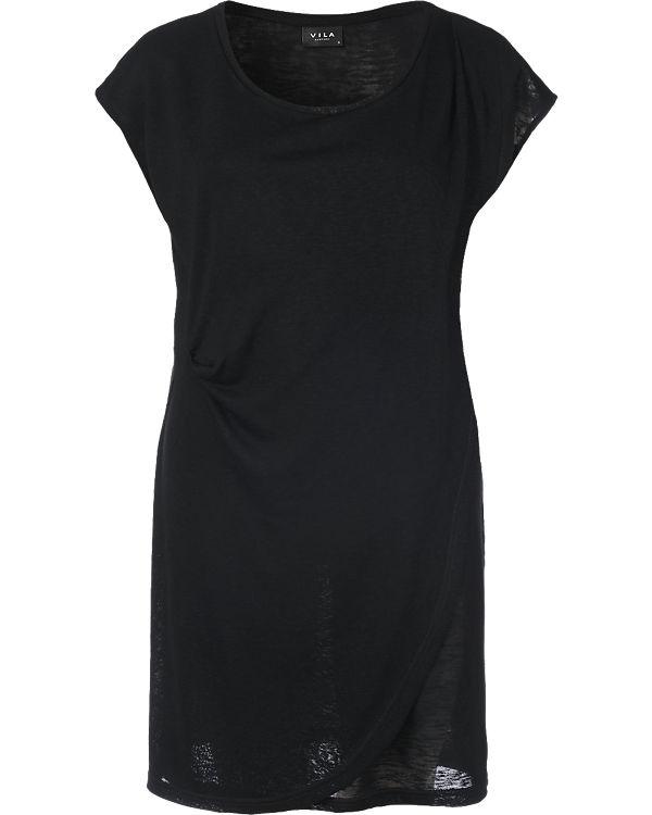 VILA Jerseykleid schwarz