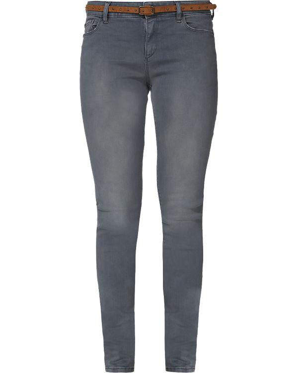 ESPRIT Jeans Slim Medium Rise grau