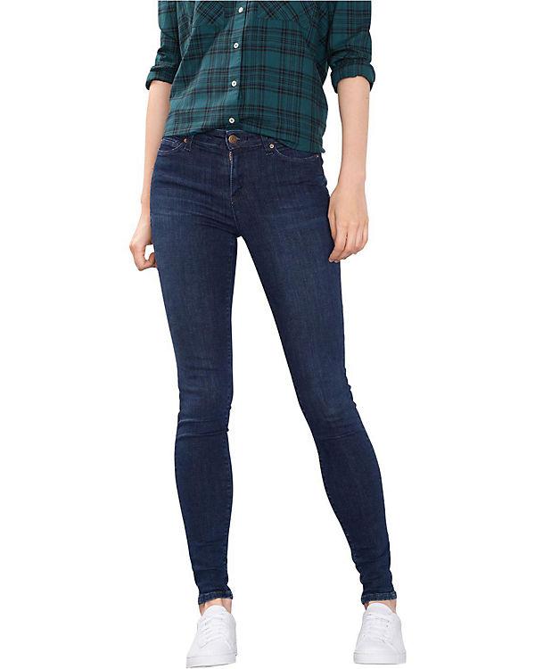 ESPRIT Jeans Skinny Medium Rise dark blue denim