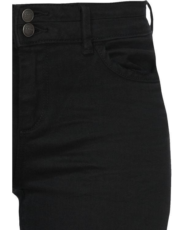 ESPRIT Hose Slim Medium Rise schwarz