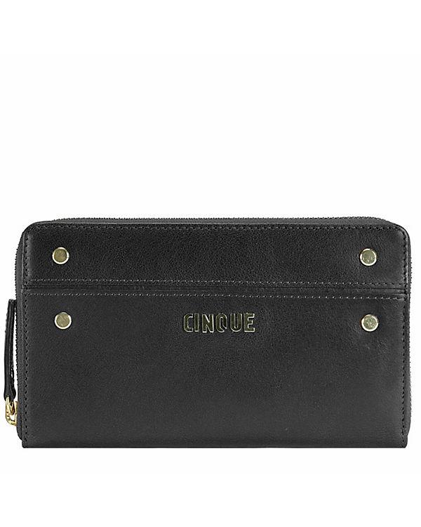 CINQUE CINQUE Rosella Geldbörse Leder 19 cm schwarz