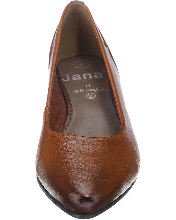 Jana Pumps weit cognac