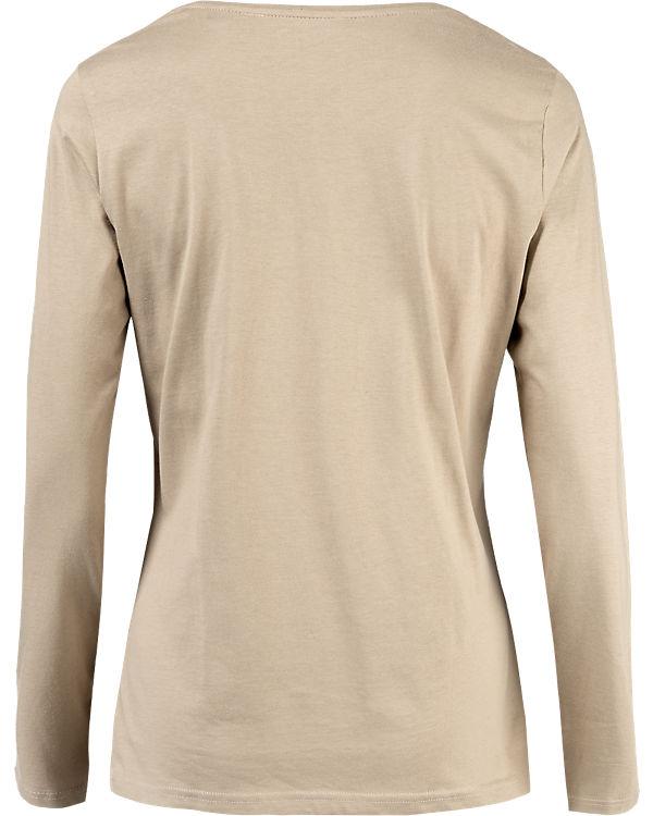 BLUE SEVEN Langarmshirt beige