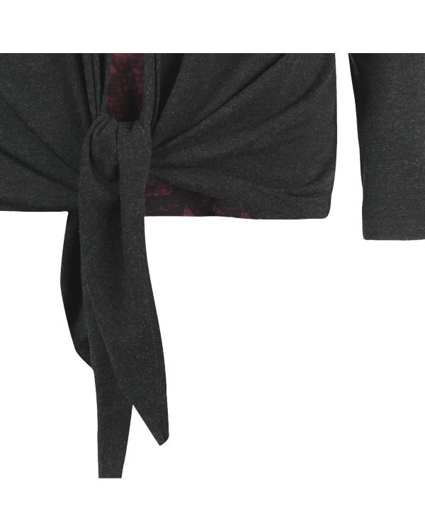 BLUE SEVEN Langarmshirt schwarz/rot