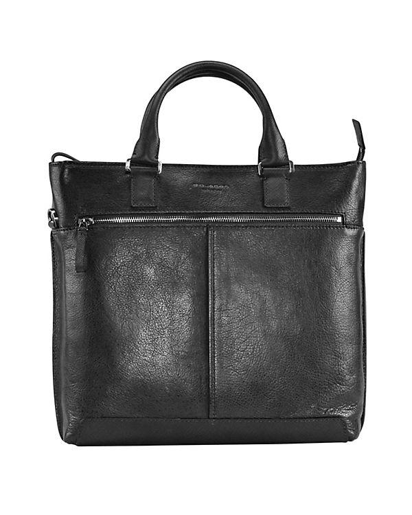 Piquadro Piquadro Archimede Shopper Tasche Leder 41 cm schwarz