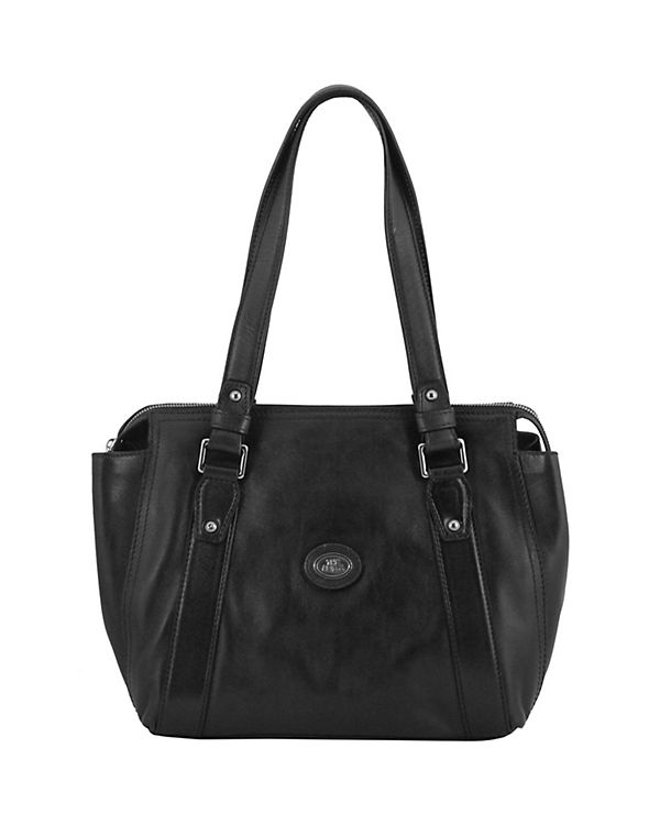 The Bridge Manhattan Schultertasche Leder 28 cm