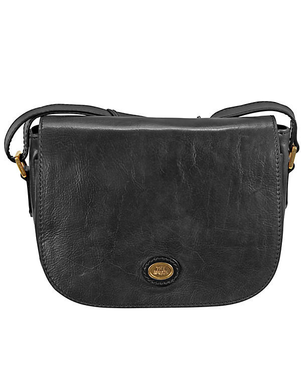 The Bridge Basic Umhängetasche Flap Bag Leder 28 cm