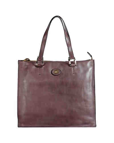 The Bridge Saddlery Donna Schultertasche Shopper Leder 34 cm