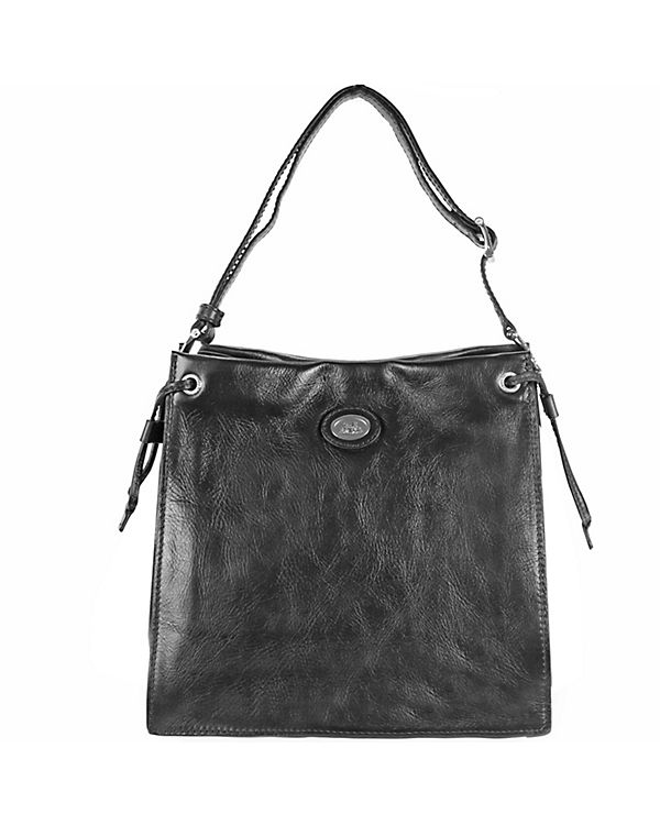 The Bridge The Bridge Saddlery Donna Schultertasche Umhängetasche Leder 28 cm schwarz
