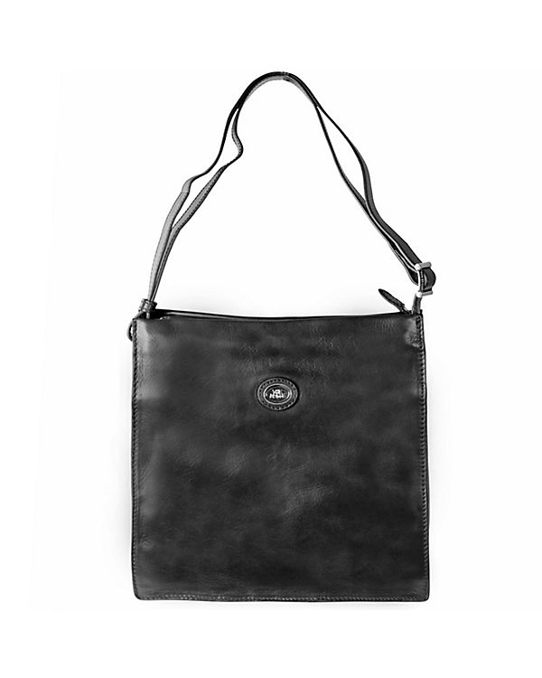 The Bridge Saddlery Uomo Umhängetasche Leder 30 cm Laptopfach