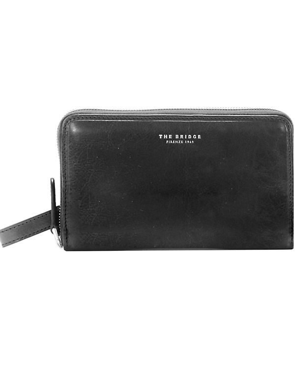 The Bridge The Bridge Jade Clutch Tasche Leder 41 cm schwarz