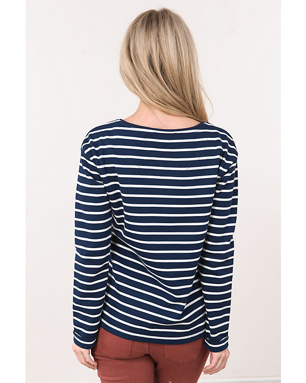 ESPRIT Langarmshirt blau/weiß