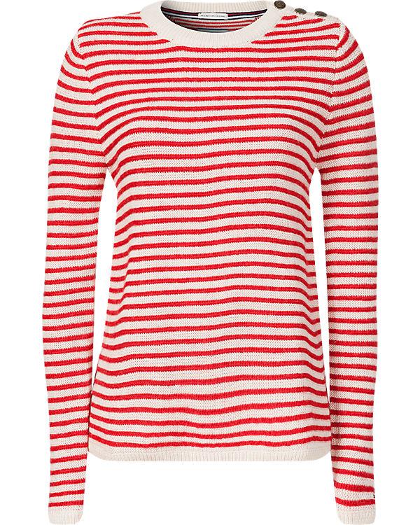 HILFIGER DENIM Pullover rot/weiß