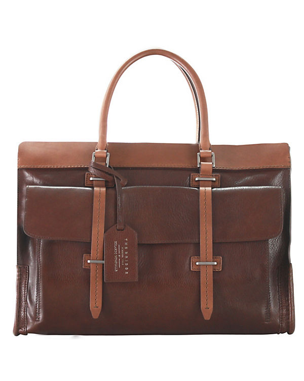 The Bridge The Bridge Ascott Handtasche Weekender Leder 48 cm braun