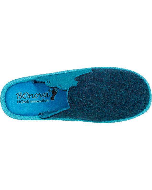 BOnova Berkehook Hausschuhe blau-kombi