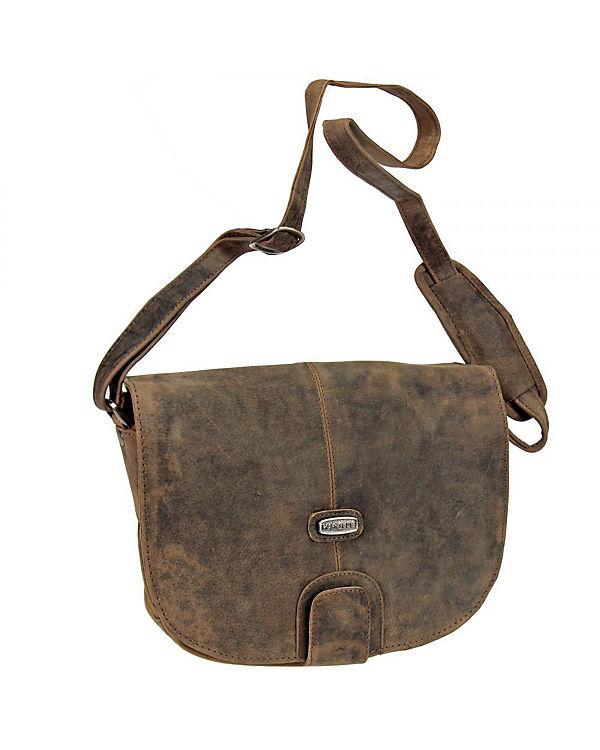 Harold's Harold's Antico Umhängetasche Flap Bag Leder 25 cm braun