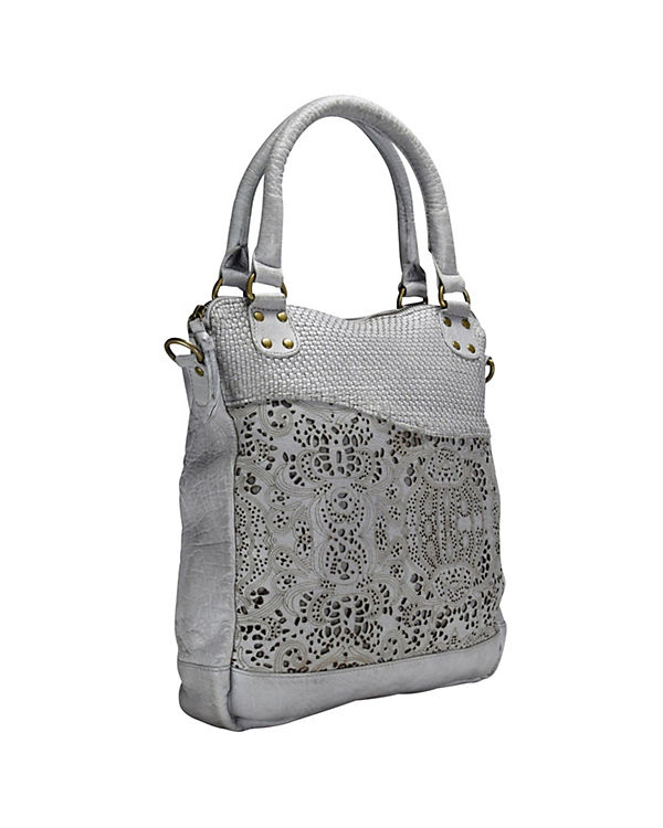 GreenLand Greenland Femi & Nine Ladies Bag Handtasche Leder 32 cm grau
