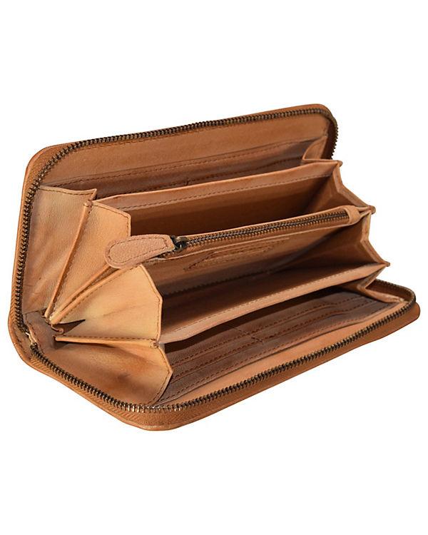 GreenLand Greenland Femi & Nine Ladies Wallet Geldbörse Leder 20 cm braun