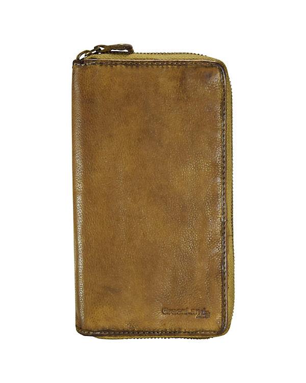 GreenLand Greenland Soft Bags Ladies Wallet Geldbörse Leder 19 cm gelb