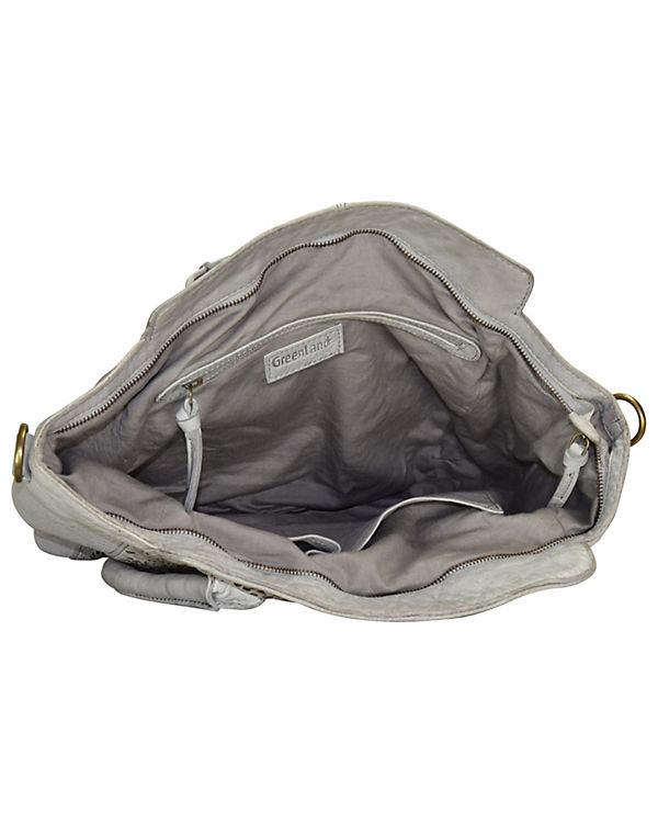 GreenLand Greenland Femi & Nine Ladies Bag Handtasche Leder 44 cm grau