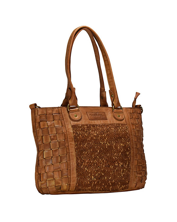GreenLand Greenland Femi & Nine Ladies Bag Handtasche Leder 42 cm braun