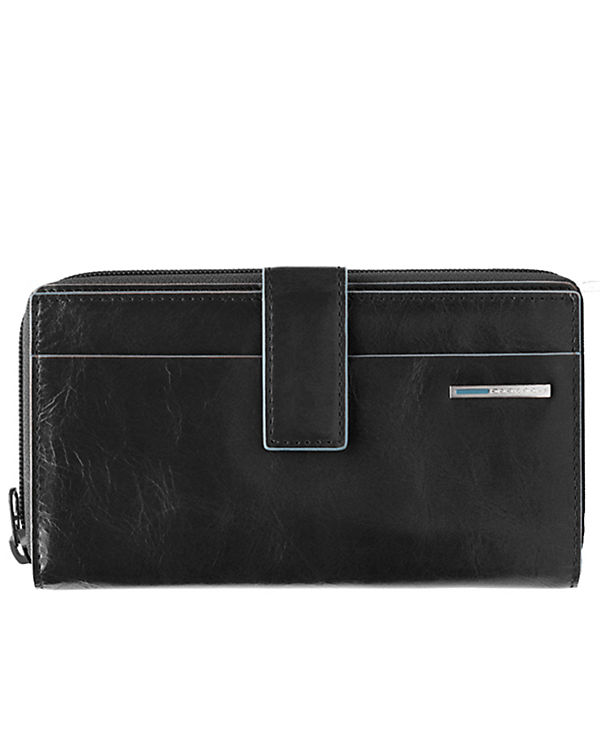 Piquadro Piquadro Blue Square Geldbörse Leder 17 cm schwarz
