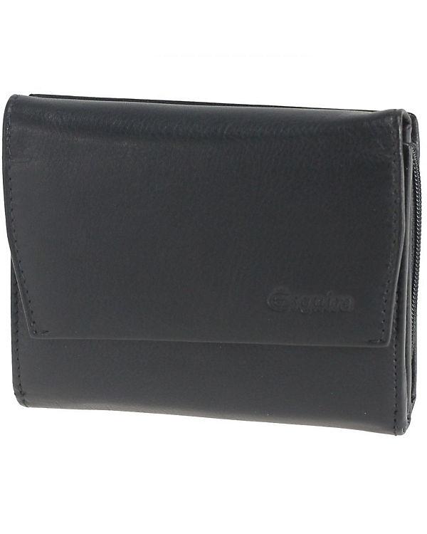 Esquire Esquire Silk Damengeldbörse Leder 12 cm schwarz