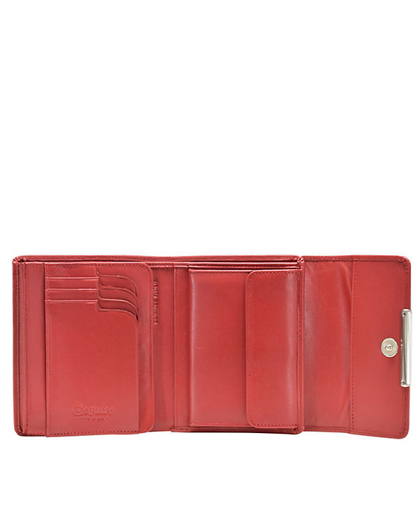 Esquire Esquire Helena Geldbörse Leder 12 cm rot
