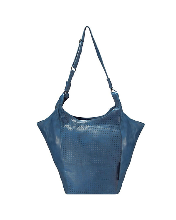 Greenburry Greenburry Stainwashed Shopper Tasche Leder 30 cm blau