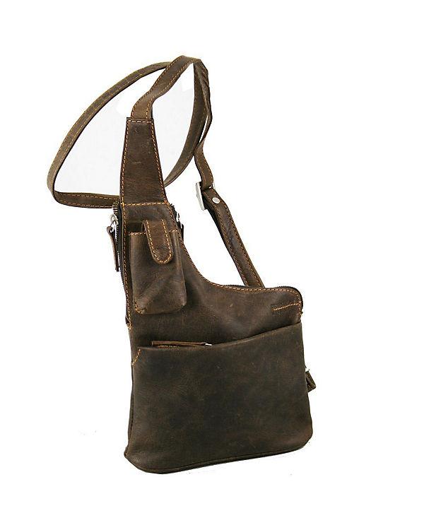 GreenLand GreenLand NATURE Westcoast Umhängetasche /Bodybag Leder 20 cm braun