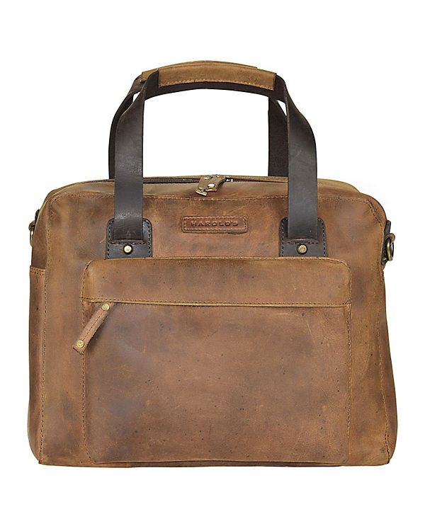 Harold's Antik Casual Aktentasche Leder 35 cm Laptopfach