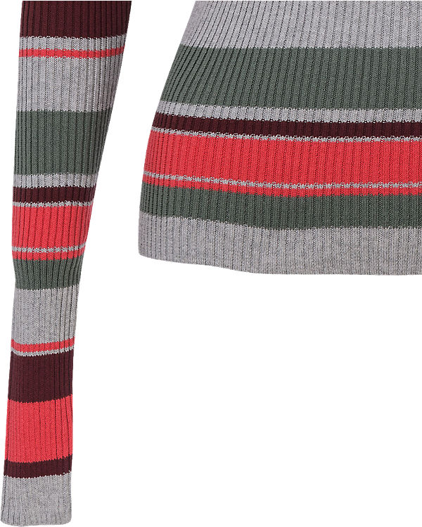 REVIEW Pullover grau/rot