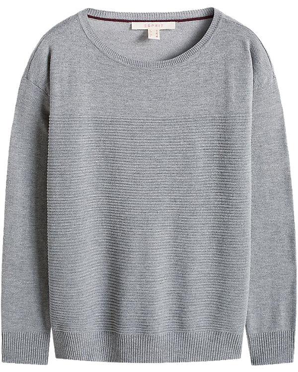 ESPRIT Pullover grau