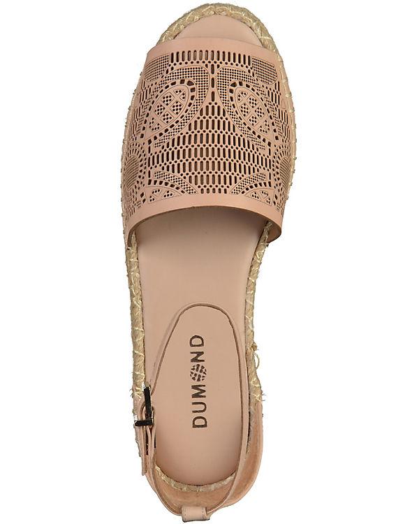DUMOND Sandaletten rosa