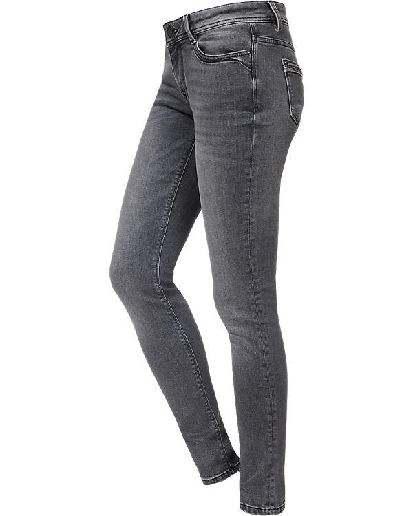 edc by ESPRIT Jeans Skinny Low Rise grau