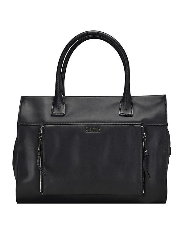 CINQUE CINQUE Rachelle Shopper Leder 36 cm schwarz