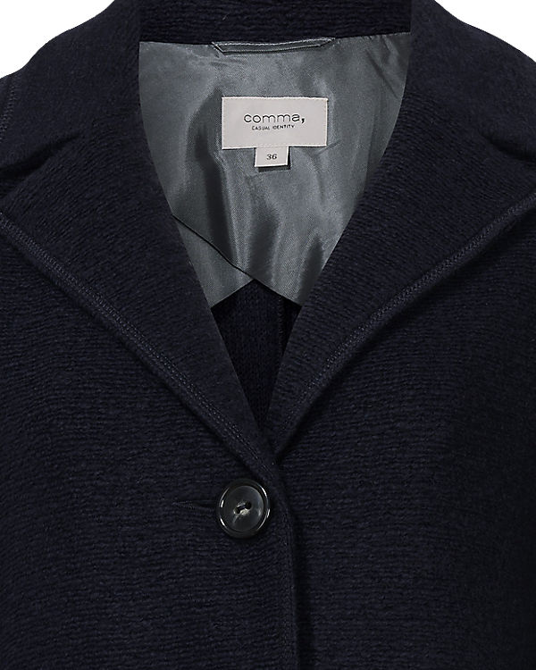 Comma Casual Identity Mantel dunkelblau