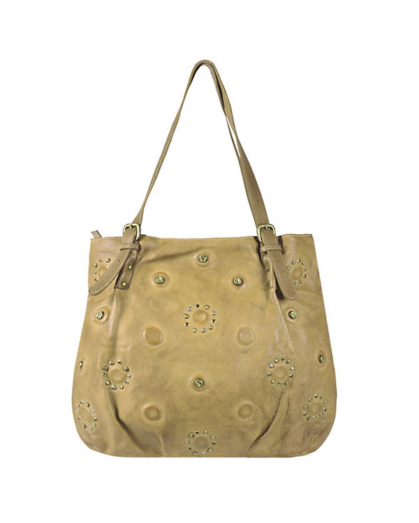 Greenburry Riveted Shopper Tasche Madeleine Leder 36 cm