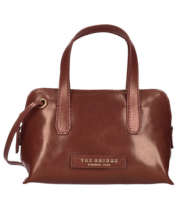 The Bridge The Bridge Plume Luxe Donna Umhängetasche Tasche Leder 22,5 cm braun