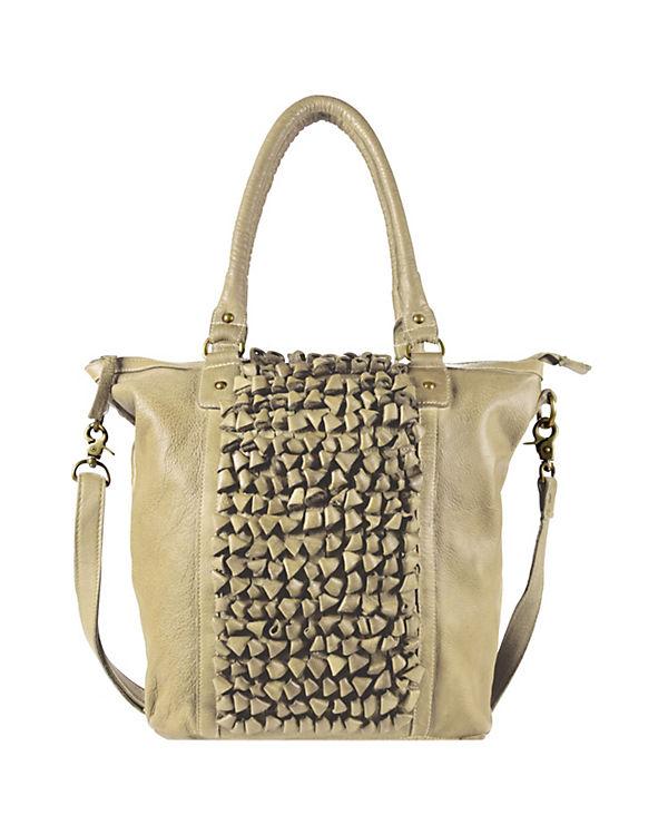 Greenburry Greenburry Loops Shopper Tasche Demi Leder 33 cm beige