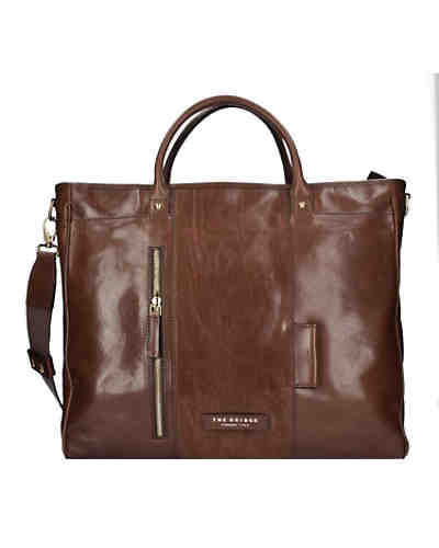 The Bridge Passpartout Shopper Tasche Leder 43 cm