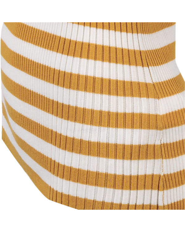 s.Oliver Pullover gelb/weiß
