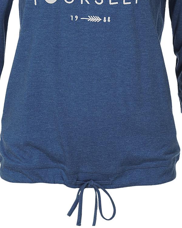 Q/S 3/4-Arm-Shirt blau