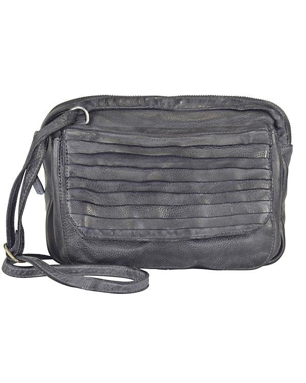 Taschendieb Taschendieb Clutch Umhängetasche Leder 26 cm grau